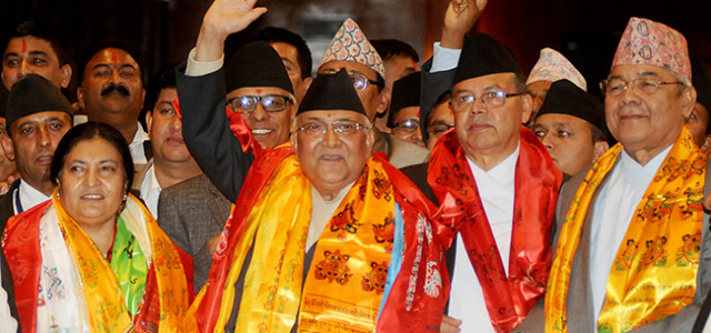 Securing a 338 votes KP Sharma Oli CPN-UML Chairman was declared the 38th prime Minister of Nepal. He defeated Nepali Congress (NC) President Sushil Koirala. Koirala secured 249 votes, from […]