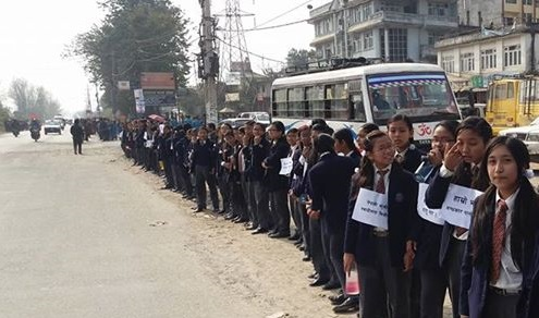 The School children of Nepal formed a Human Chain to protest against the ongoing treachery of blockade and shutdown program against violation of right to education in Nepal, on Friday. […]