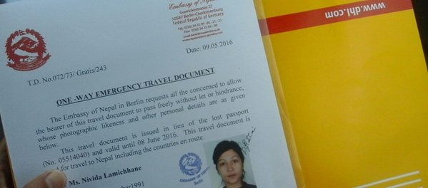 """""""Nivida Lamichhane"""" has finally received her temporary official documents to travel back to Nepal fromPrague of the Czech Republic. Few days back the social media of Nepal went wild on […]"""